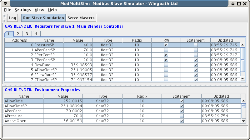 ModMultiSim main window